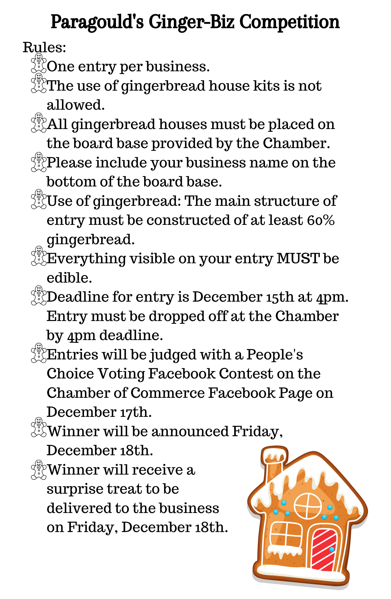 Ginger-Biz Competition Rules