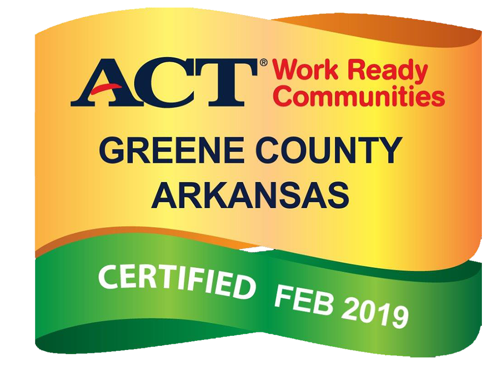 ACT Work Ready Communities, Greene County Arkansas, Certified Feb. 2019